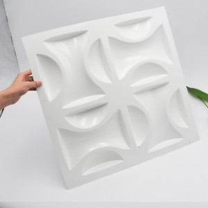 Modern 1mm Thick White PVC Plastic 3D Wall Panel for Interior Decoration