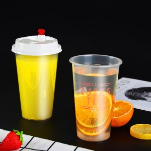 Food Grade 16oz Custom Plastic Clear PET Blister Cup For Juice