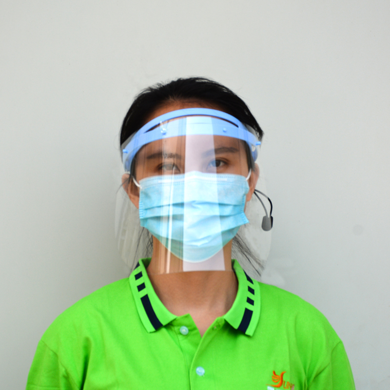 Anti Fog Reusable Protective Faceshield Plastic Clear Anti UV Adjustable Face Shield Visor For Adults