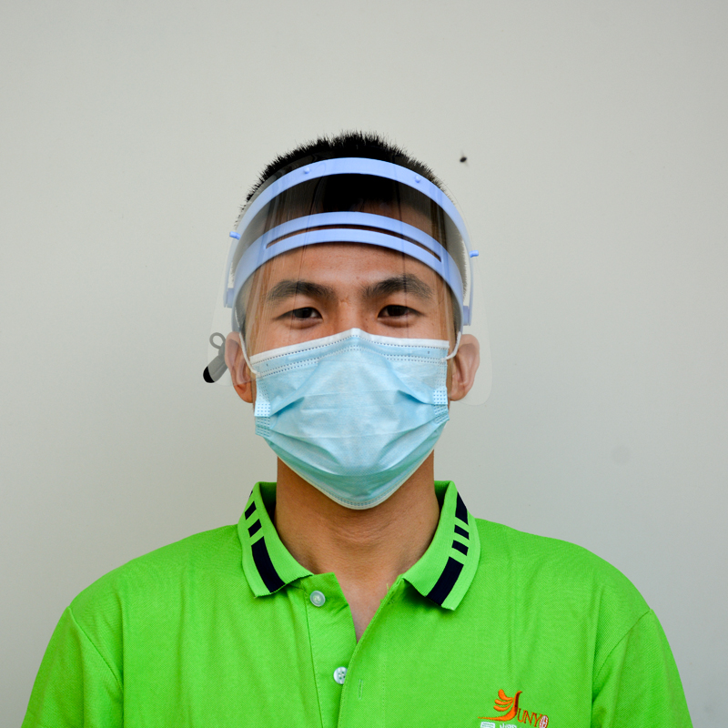 0.35mm Plastic Clear Anti-fog Safety Protective Face Shield Visor